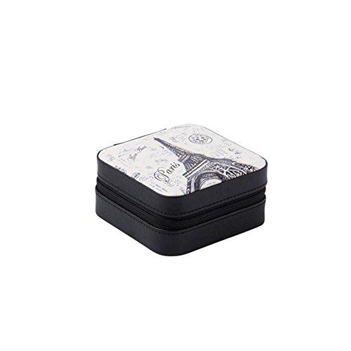 Qqibaby astucci per gioielli, il walkman portable princess travel auricolari piccoli anello cartuccia gioielli box box cosmetico, creative regalo di compleanno per la sua fidanzata, b