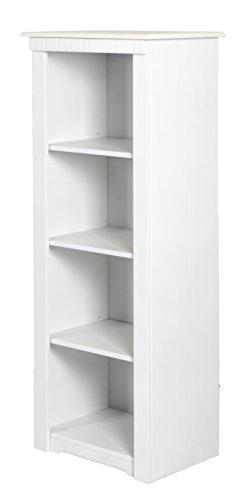 clever-moebel Bücherregal aus Kiefernholz, weiß