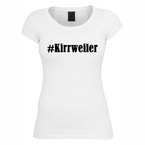 T-Shirt #Kirrweiler Hashtag Raute für Damen Herren und Kinder ... in den Farben Schwarz und Weiss Weiß