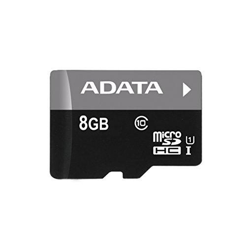 Adata Premier MicroSDHC Scheda di Memoria da 8 GB, UHS-I U1, Class10, Nero