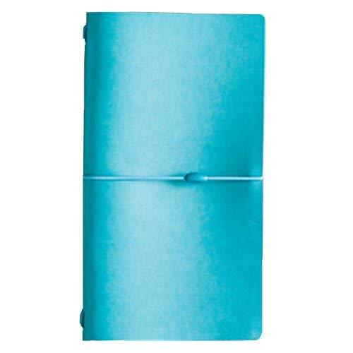 Tagebuch Reisende Notebook, iceblueor Leder Travel Zusammensetzung Nachfüllbares Notizbuch, Tagebuch Schreiben Notebook (blau) (Kleines Notebook Journal)
