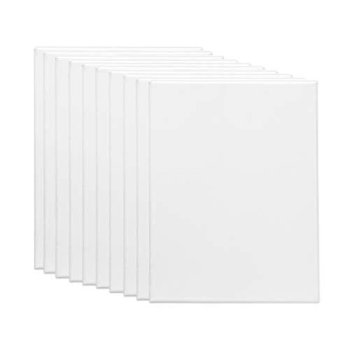 18 X 18 Leinwand (Easy Kunst GmbH 10er Pack Keilrahmen Leinwand Set aus 100% Baumwolle - 380 g/m² - von Gr. 10x10 cm bis Gr. 80x120 cm - 17mm dick Mit 8 Keile(Gr. 18x24 cm))