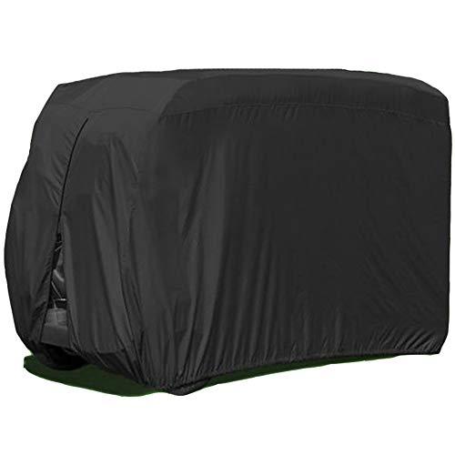 LDIW Golfwagenabdeckung 4 Passenger Golf Cart Abdeckung Wasserdicht Staubdicht Golf Cart Abdeckung Staubschutz passend für 4 Passenger Golf Cart,242x122x168cm -