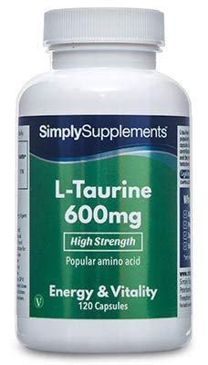 L Taurina 600 mg 120 capsule 2 mesi di trattamento SimplySupplements
