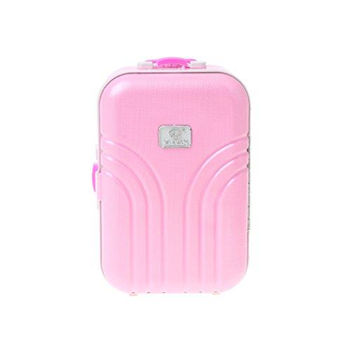 Dabixx Kinder Koffer, Reise-Set Koffer für 18-Zoll-American Girl Puppe Puppenzubehör - Rosa