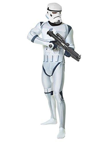 Star Wars Stormtrooper Digital Morphsuit Lizenzware weiss-schwarz L (bis zu 1,80 m) (Superhelden Kostüme Zu Machen)
