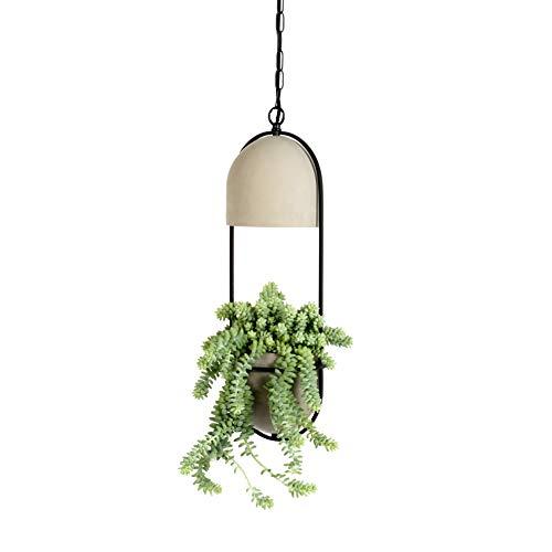 QAZQA Rustique Lampe suspendue ronde végétale en béton - Faune A Metal/Pierre/Rond/Oblongue/Compatible pour LED E27 Max. 1 x 40 Watt/Luminaire/Lumiere/Éclairage/intérieur/Chambre á co