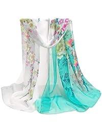 Dames style printemps printemps foulard soie mousseline en pivoine de sable  Mode Chic plage légère douce daae8636c25