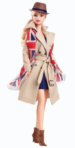 Barbie Collector Dolls of the World United Kingdom pink label -