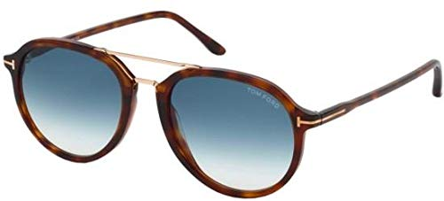 Tom Ford Sonnenbrille für Männer und Frauen Modell FT0674 Brillenfassungen Havanna Farbe Und Blaue Linsen