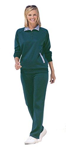 Costume de loisirs à manches longues DAMART. RRP: PLUS Taille 58-60 green