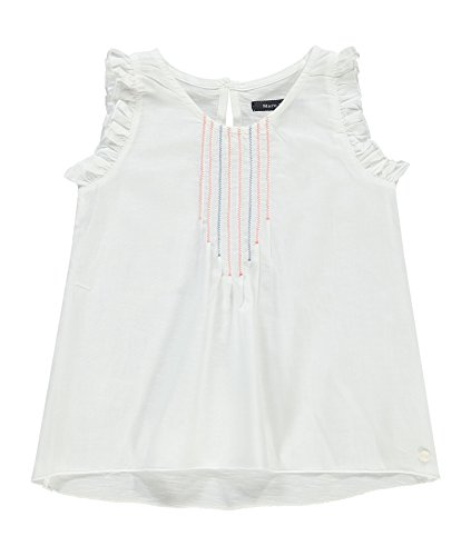 Marc O' Polo Kids Mädchen Bluse Tunika ohne Arm, Weiß (Snow White 1050), 104