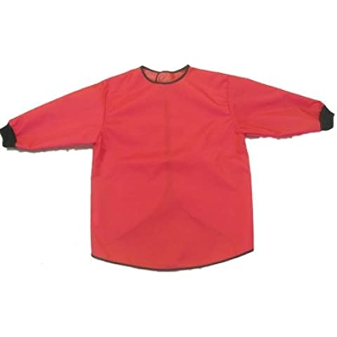 Grembiule impermeabile: Camice con maniche lunghe. ROSSO 6 -7 anni