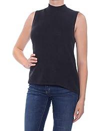 deece721a896 Catherine Malandrino Womens Gray Sleeveless Turtle Neck Hi-Lo Top Size: M