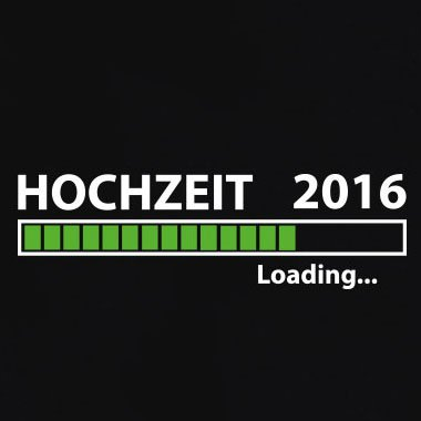 TEXLAB - Hochzeit 2015 loading - Langarm T-Shirt Schwarz