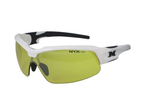NYX Sport Vision Pro z-17Serie Sonnenbrille mit Z87.1Sicherheit Bewertung schwarz, weiß-schwarz Rahmen/gelb Luminator Sicherheit Objektiv, Medium