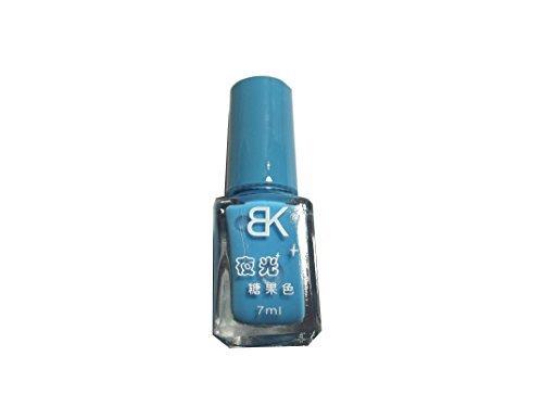 1 Stk. Nail Polish Nachtleuchtend Fluorescent Nagellack blau babyblau#07 -