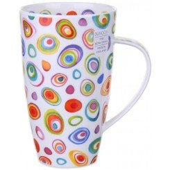 Dunoon Razzmatazz Henley shape Fine Bone China Becher - Fine Bone China Swirl