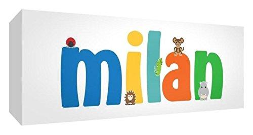 Little Helper de Milan 515blk 15de Diamant poli Baby andenken/jeton, personnalisé avec le nom jeunes, Milan, petit, 5 x 15 x 2 cm