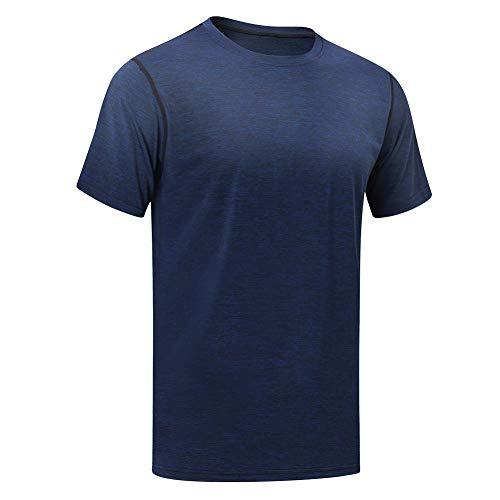MEETYOO Sportshirt Herren, Laufshirt Kurzarm T Shirts Männer Fitnessshirt Atmungsaktiv Funktionsshirt für Running Jogging Fitness Gym
