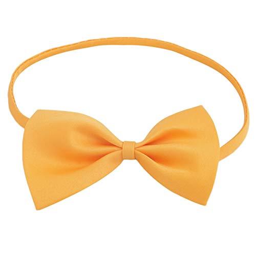 Tragen Bow Tie Tuxedo (Neue Jungen Mädchen Kinder Schmetterling Britischen Stil Krawatte Solide Bowtie Pre Krawatte Gebunden Kinder Hochzeit Satin Fliege Vintage Hot (Gelb) JBP-X)
