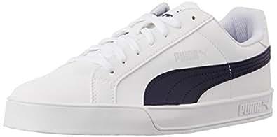 Puma Unisex PumaSmashVulc White and Peacoat Sneakers - 10UK/India (44.5EU)