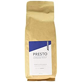 Presto Ground Coffee – Cafè Espresso – Freshly Roasted Medium Roast Espresso Ground Coffee – 100% Arabica – 1KG