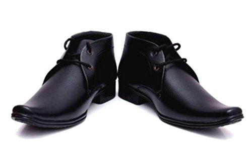 Shockerrock Men's Black Formal Shoes(10)