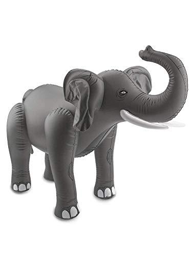 Folat 20271 Aufblasbarer Elefant Grau, keine, Einheitsgröße (Kostüm Party Gutschein)