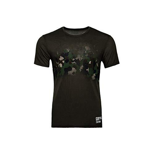 Guess - Camoflage Olive grün Herren T-Shirt Shirt Military (M, Olive)