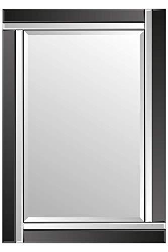 MirrorOutlet Espejo Veneciano Borde Biselado Negro