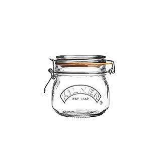 Kilner Clip Top Round Storage Jar, 0.5 Litre