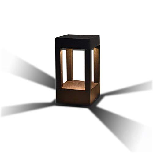 10w-kandelaber (10W LED Energiespar-Wegeleuchte | Pollerleuchte | Wegelampe | Sockelleuchte Gartenleuchte | Außenleuchte | Aluminiumguss | Außenlampe Gartenlampe IP44 warmweiß 3000K 700 lm | Eckig | Schwarz)