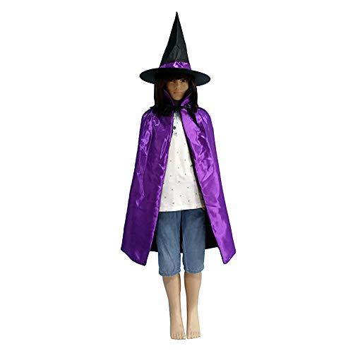 Hellomiko Halloween Umhang Kinderparty Prom Performance Kostüm Bronze Fünf Sterne Umhang mit Hexenhut