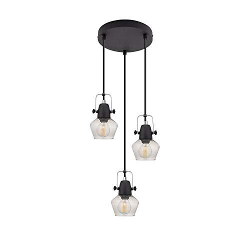 Lámpara Colgante Sipi 3 Focos Negro Negro