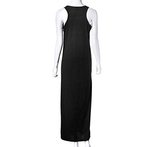 Femme Robe, Tonsee Robe d'été femmes été Casual Sexy Boho Long Maxi soirée Beach Party Dress Noir