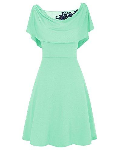 Dresstells, A-ligne robe courte de mère de mariée Menthe