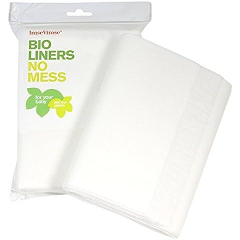 ImseVimse - Salvietta Bio Liners per pannolini, 100 pezzi