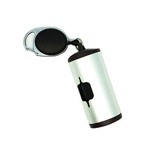 KINGDUO Aluminium Poop Taschen Spender Patentiert Abbaubar Haustier Poop Bags Outdoor Pet KOT Müll Clean-Weiß