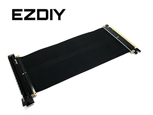 EasyDiy New PCI Express 16x flexibles Kabel Karten Verlängerung Port Adapter High Speed Riser Card-20cm - 3