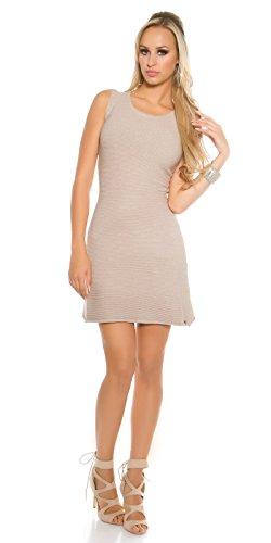 In-Stylefashion - Robe - Patineuse - Femme beige beige taille unique Beige