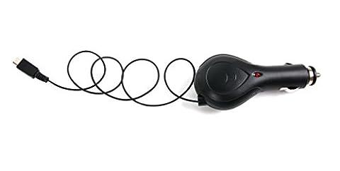 DuraGadget 5 V 1 Amp aufrollbares Kfz-Ladegerät für Mpow Magneto Bluetooth 4.1 MBH26, Muze Touch, Petrel Bluetooth 4.0 Wireless MBH8, Seals Airblow MBH27, Seashell Bluetooth 4.0 MBH24, Shark Bluetooth Headset MBH10, Shield Bluetooth Headset MBH14, Sport fit Wired Headphones MWE2, Swallow Bluetooth 4.1 Sports Headphones MBH20, MBH6 sowie TaoTronics TT-BH07 und VicTsing Wireless Kopfhörer VBT004G-dvu (Headset Seal)