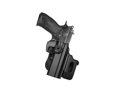CZ 75/75B COMPACT/75B OMEGA (9mm/.40) Polymer Retention Roto Holster mit abnehmbare Magazintasche -