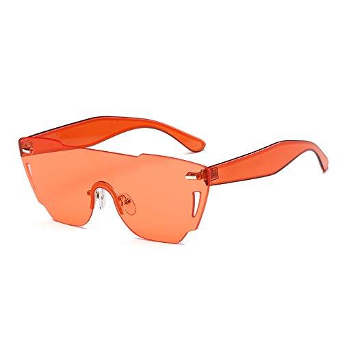 ZYPMM 2017 Europa und die Vereinigten Staaten Mode Damen Sonnenbrille neue Strand Brille ozeanischen Film Stück der einzelnen Sonnenbrillen ( Color : Orange )