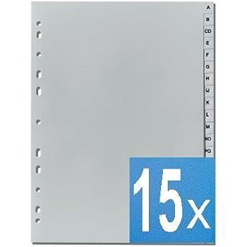 6520-10 A-Z 20er Maxi Sparpack Durable Ordnerregister DIN A4 grau 20 Stück