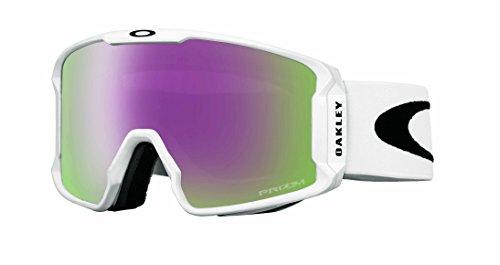 Oakley Line Miner(TM) PRIZM(TM) Inferno Skibrille (mit beheizbarer Scheibe), Rahmen:matte white, Gläser:prizm hi pink iridium