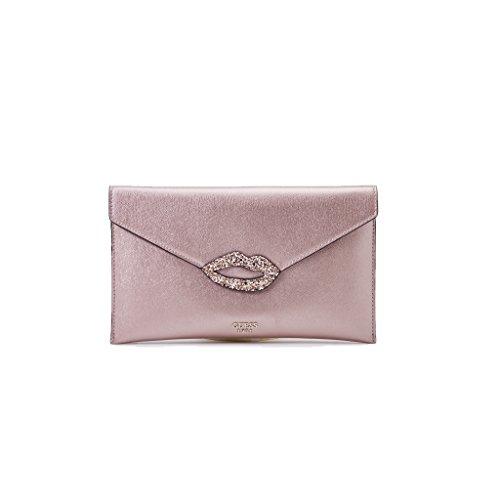 Guess Pochette Donna, Ever After Envelope Clutch Larg 30 h17, MH686228/BLUS, Colore Rosa, in Ecopelle, Nuova Collezione Primavera Estate 2018