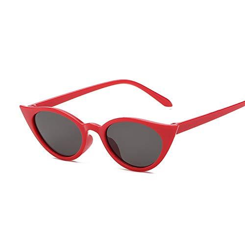 YUHANGH Kleine Cat Eye Frauen Sonnenbrille Getönte Farbe Linse Damen Vintage Geformte Sonnenbrille Weibliche Schwarze Sonnenbrille