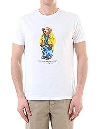 c0c28b85c139 Ralph Lauren Mod. 7107403346 T-Shirt Girocollo Manica Corta Orsetto Uomo  White
