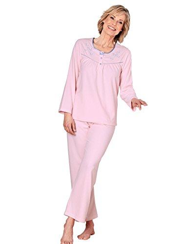 Mesdames Brodé Pyjama Micropolaire Rose